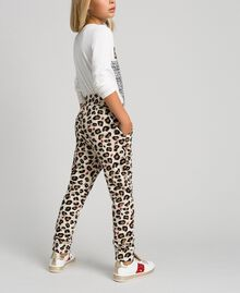Animal print trousers with hearts Leopard Print Child 192GJ2330-04