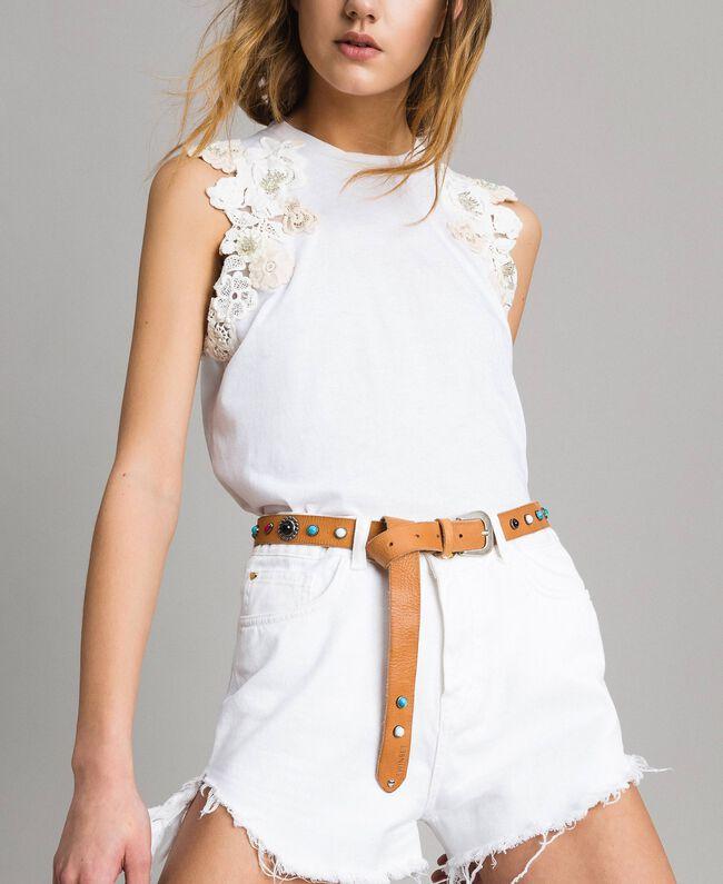 design di qualità ufficiale stile moderno Cintura in pelle con borchie Donna, Marrone | TWINSET Milano