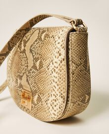 Animal print leather shoulder bag Pastel Skin Python Print Woman 202TD8050-01