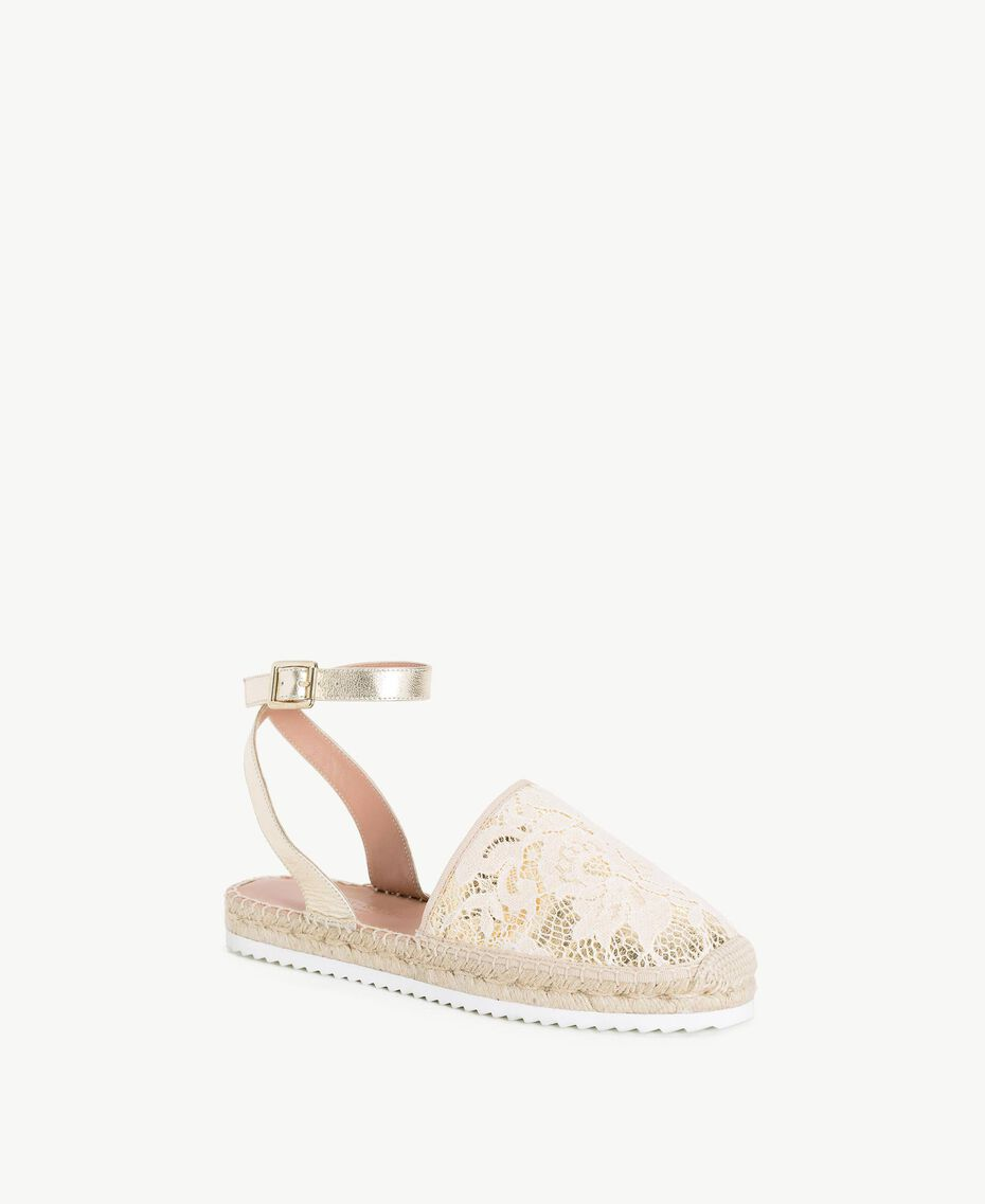 TWINSET Espadrilles dentelle Chantilly Femme CS8TE1-02