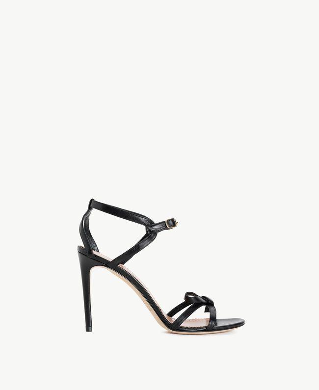 TWINSET Sandalette aus Lackleder Schwarz Frau CS8TDJ-01