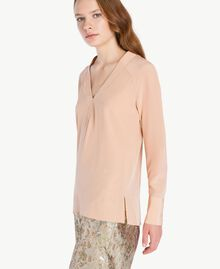 Bluse aus Seide Suntan-Rosa TA72F3-01