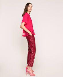 Maglia-cardigan in misto lino con top Rosa Selvatica Donna 201MT3022-02