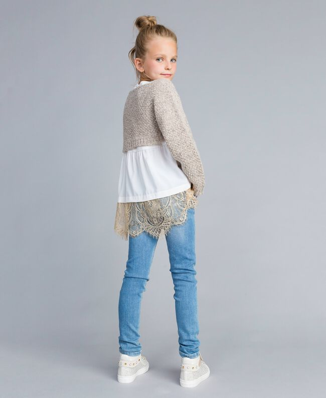 Pull court en lurex Or Lurex Enfant GA83FN-04
