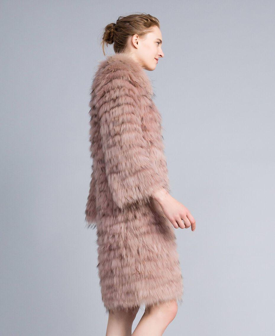 Long fur coat Light Pink Woman PA82LE-02
