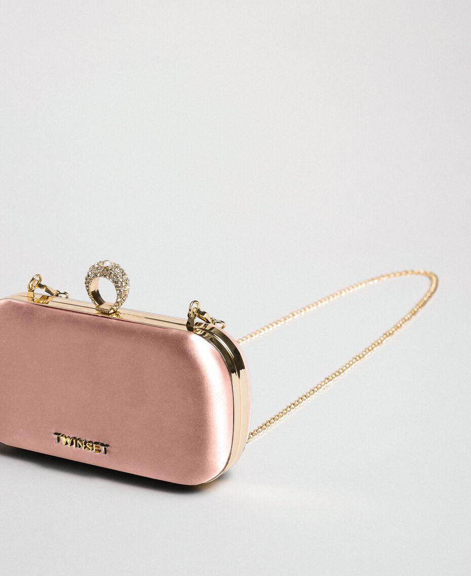 Satin clutch Dark Soft Pink Woman 192TQ706A-01