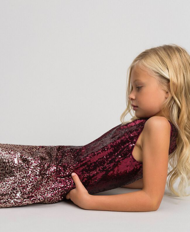 Fadeout sequin dress Fadeout Ruby Red Child 192GJ209A-04
