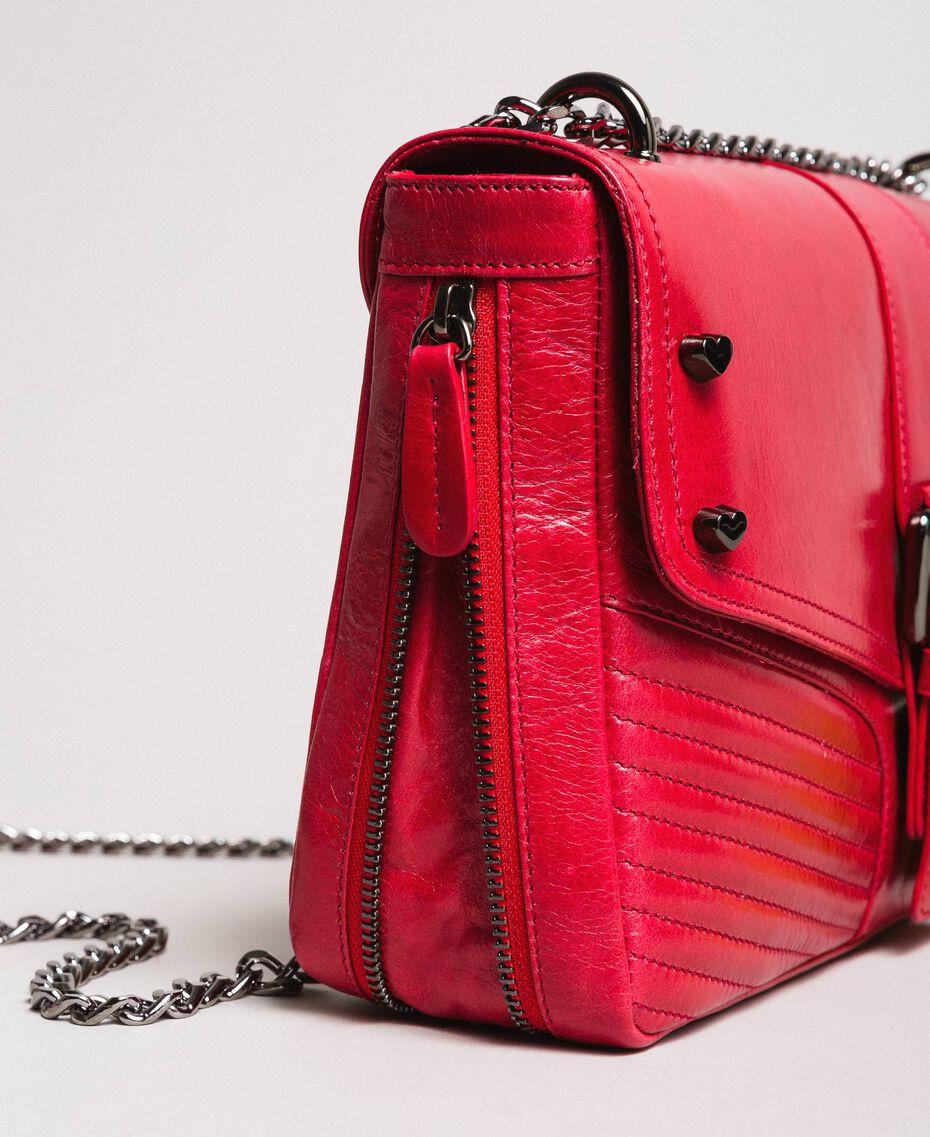 """Borsa a tracolla Rebel in pelle Rosso """"Ruby"""" Donna 191TA7233-03"""