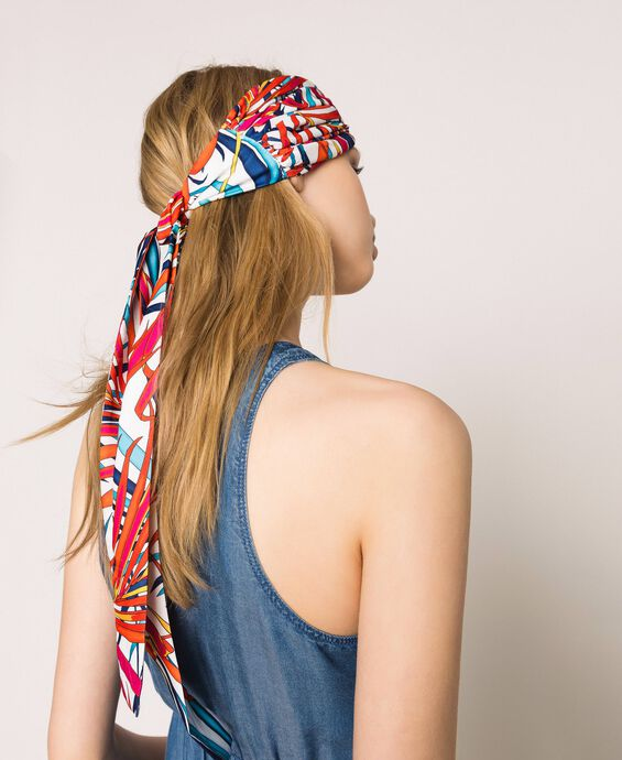 Printed scarf headband