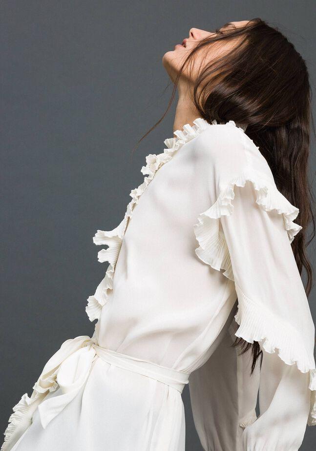 Платье из смесового шелкового крепдешина