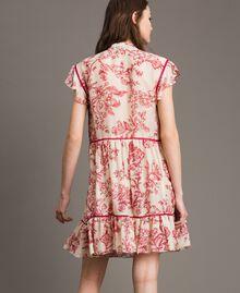 Robe en soie mélangée avec imprimé floral Imprimé Toile De Jouy Rouge Femme 191TT2404-04