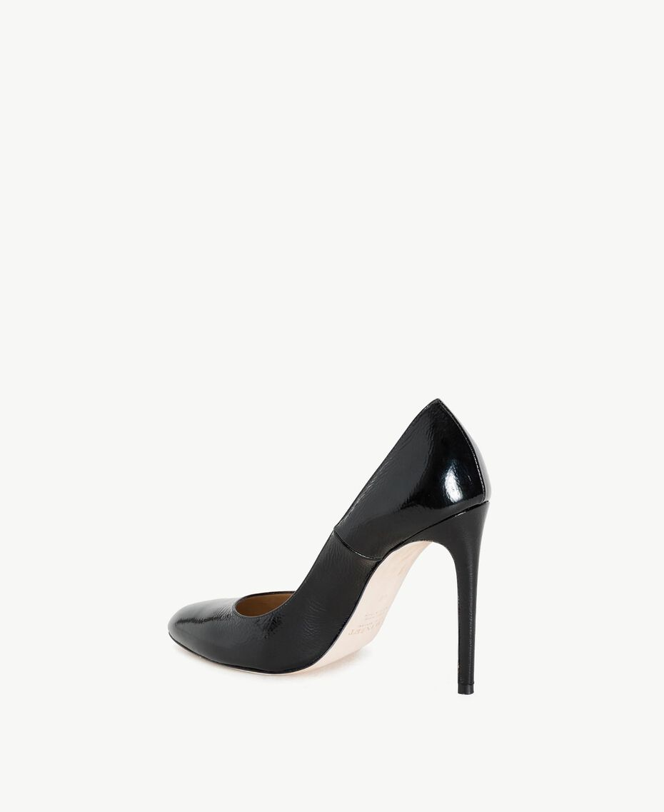 TWINSET Patent leather court shoes Black Woman CS8PLA-03