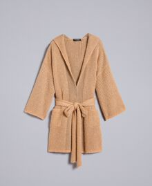 Knitted lurex cardigan Camel Gold Woman TA832B-0S