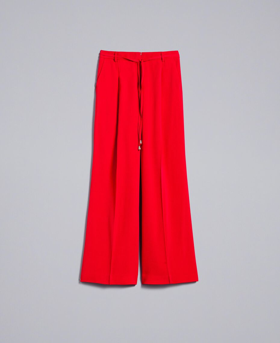 Wide cady trousers Poppy Red Woman PA825D-0S