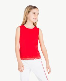 Jersey tank top Pomegranate Red Child GS82BD-02