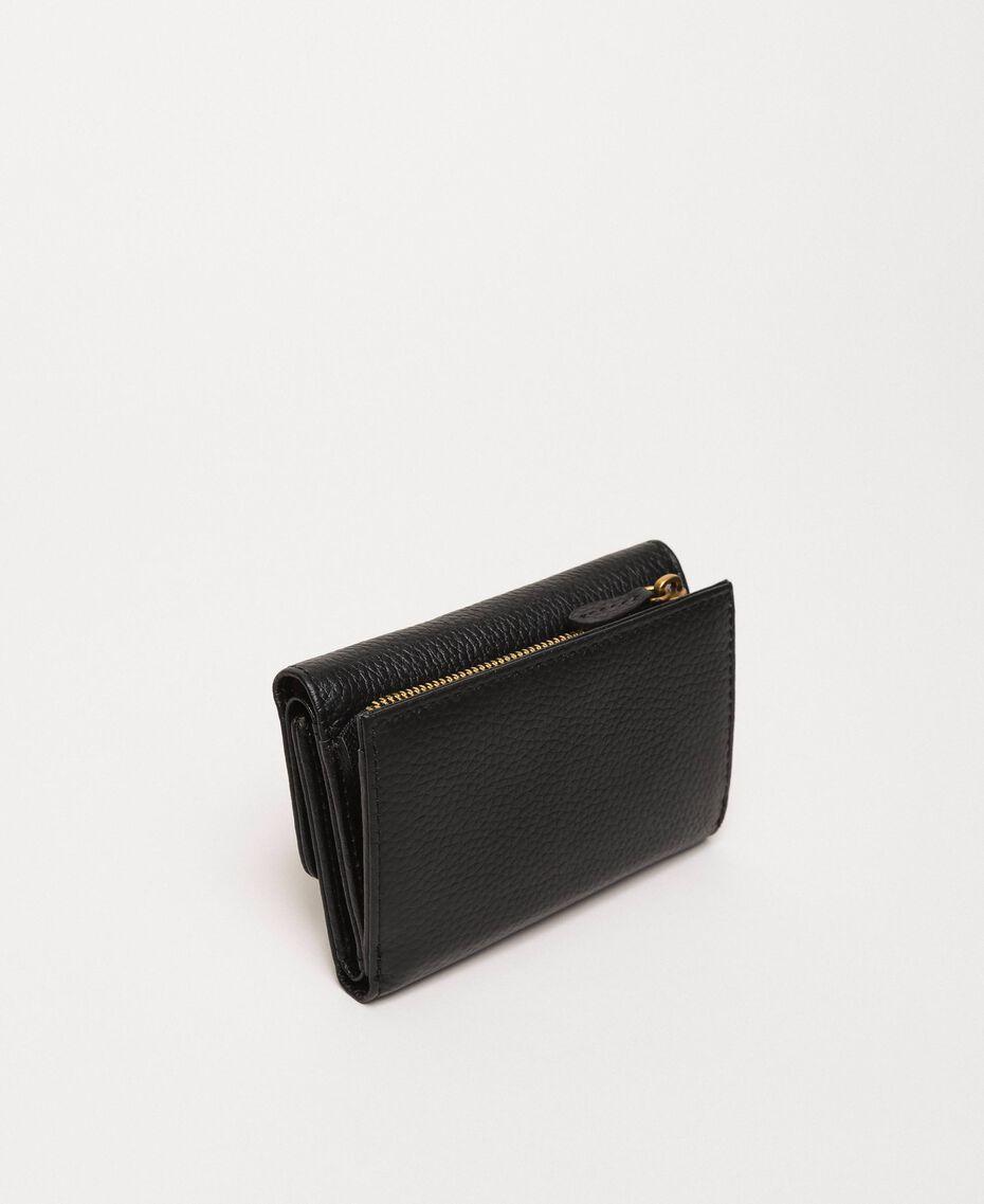Mittelgroße Bea Bag Geldbörse aus Leder Schwarz Frau 201TA7033-03