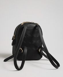 Heart print faux leather backpack Black Woman 192MA7012-02
