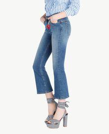 Ausgestellte Jeans Denimblau Frau JS82V4-02