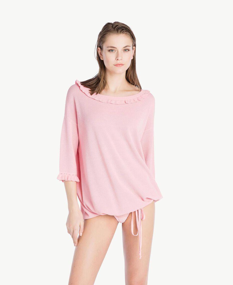 Maxi maglia ruches Pinkie Sugar Donna LS8HAA-02