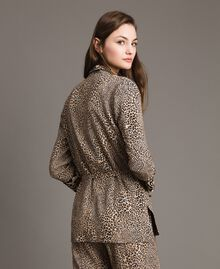 Giacca in crêpe animalier Stampa Maculata Mix Donna 191TP2700-03