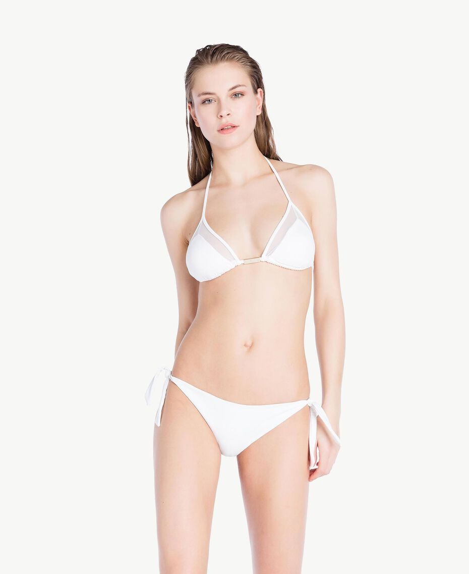 Tulle triangle bra White Woman BS8222-03