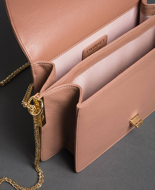 Large BEA leather shoulder bag Mousse Pink Woman 192TA7020-05
