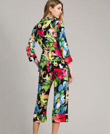 Floral print marocaine jacket Black Garden Print Woman 191TT2470-03