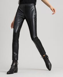 Leggings in similpelle Nero Donna 192TP2061-02
