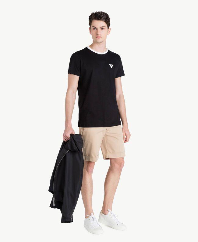 Cotton Bermuda shorts Beige Porcelain Man US824P-05