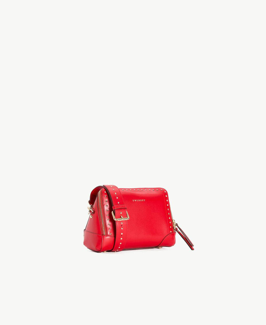 TWINSET Studded shoulder bag Ruby Woman AS8PMA-02