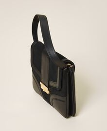 Smooth leather and suede bag Black Woman 202TB7281-02
