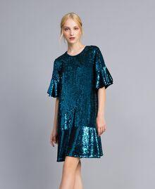 Sequin dress Octane Blue Woman TA82DC-01