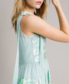 Georgette sequin top Acquamarine Woman 191TP2584-04