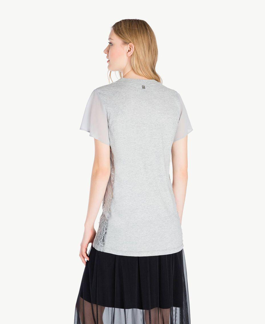 T-shirt paillettes Gris Mélangé Femme JS82RA-03
