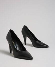 Leather court shoes Black Woman 999TCP010-01