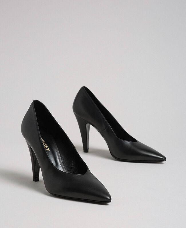 Escarpins en cuir Noir Femme 999TCP010-01