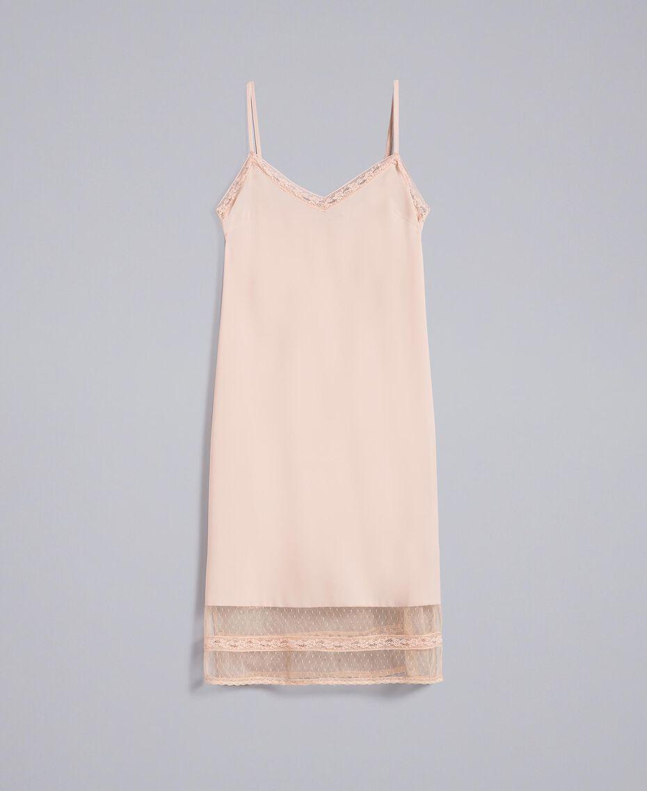 "Robe nuisette en crêpe de Chine Beige ""Nude"" Femme SA82H5-0S"