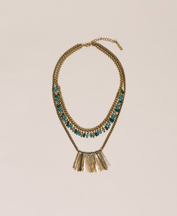 Necklace with beads and pendants
