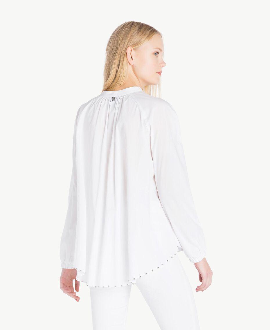 Bluse mit Schleife Weiß Frau JS82DE-03