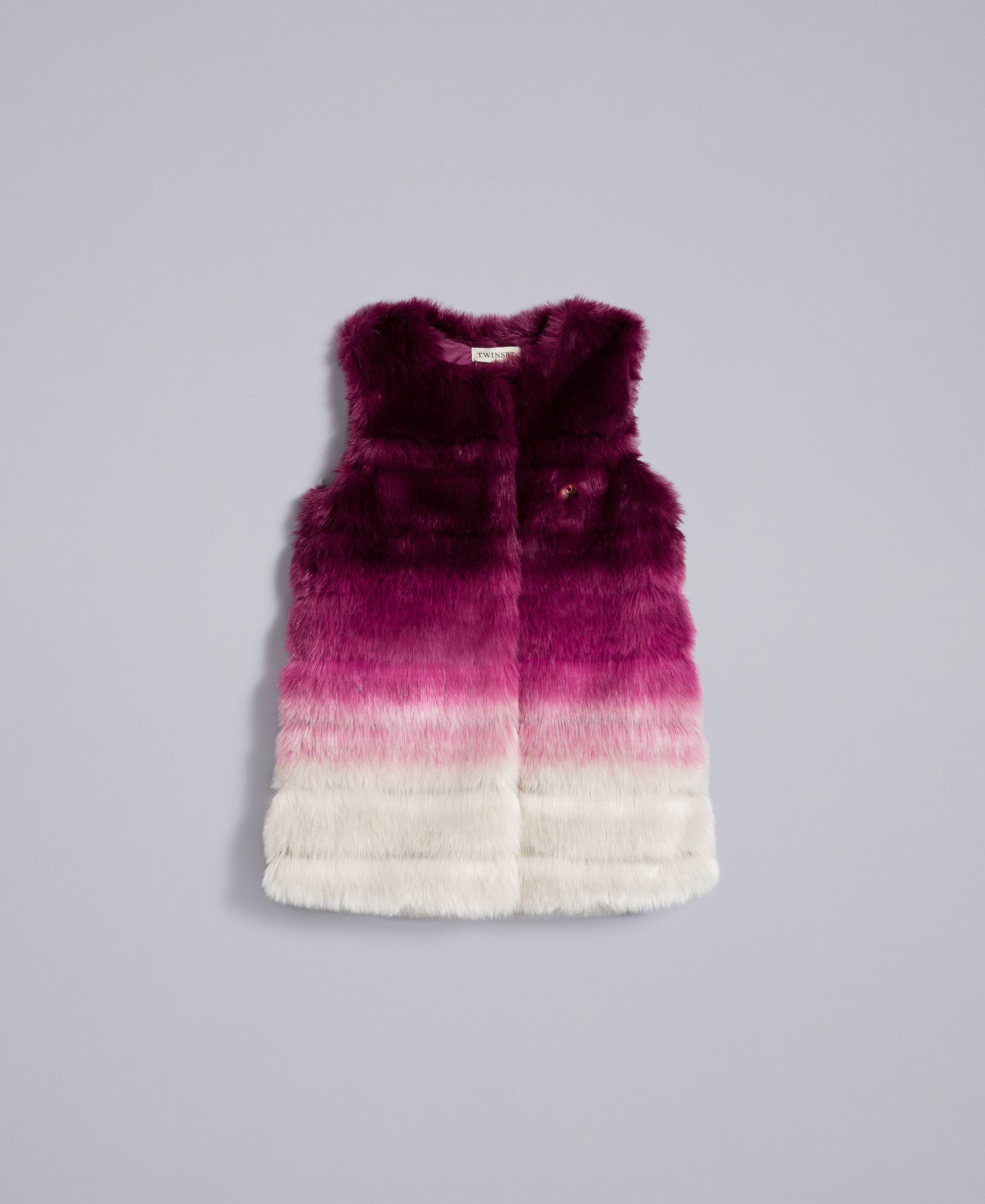 Weste aus Kunstpelz im Farbverlauf Kind, Violett | TWINSET Milano