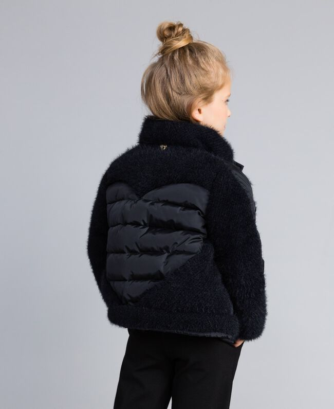 Short knit and nylon padded jacket Black Child GA82A4-03