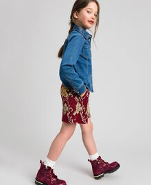 Floral brocade shorts Ruby Wine Brocade Jacquard Child 192GJ2445-02
