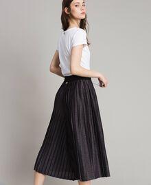 Pantaloni cropped in lurex Nero Donna 191LB23AA-03
