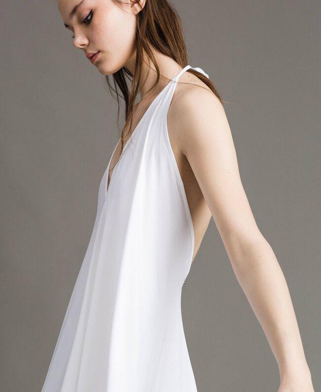 Robe asymétrique en jersey crêpé Blanc Femme 191LB22QQ-04