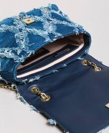 "Umhängetasche aus Jeans im Patchwork-Look ""Arabian Blue"" Blau Frau 191MA7083-05"