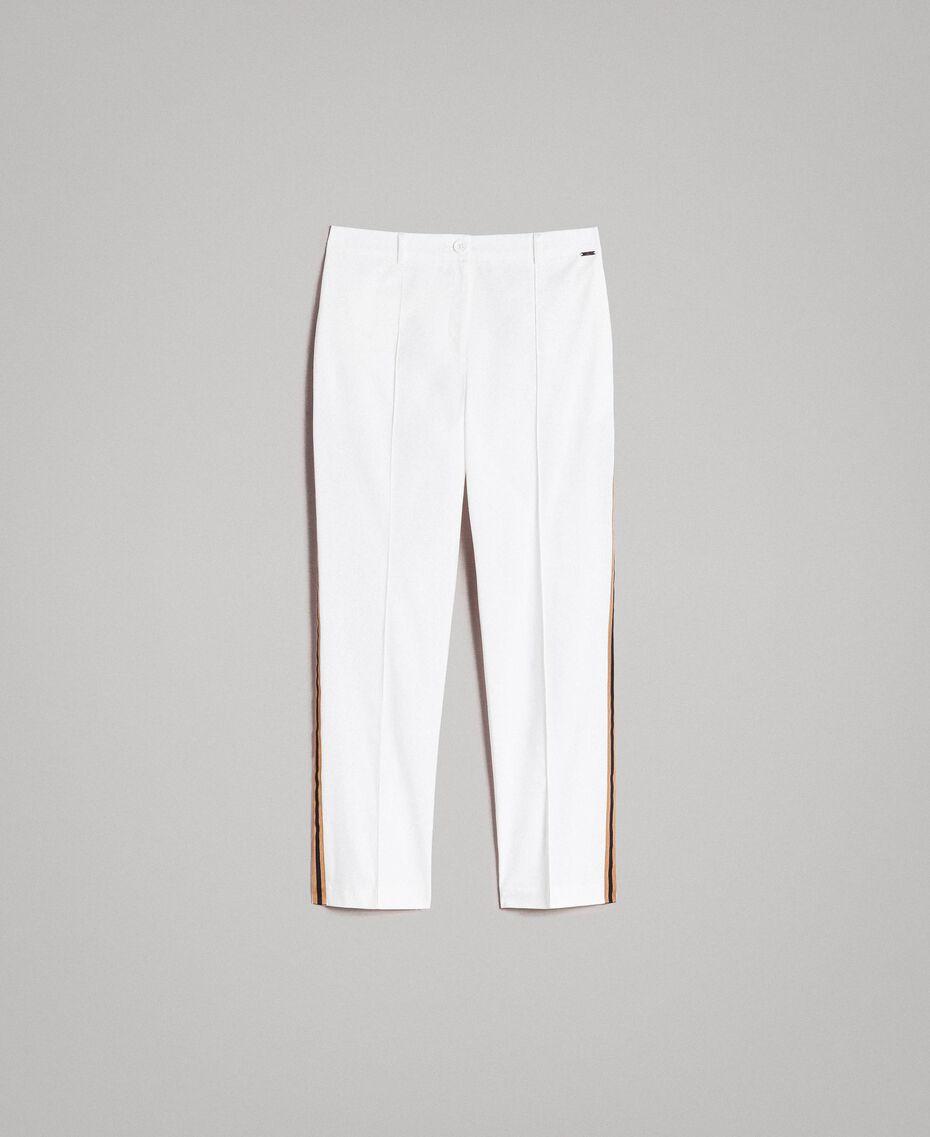 Pantalon en popeline à coupe cigarette Off White Femme 191ST2040-0S