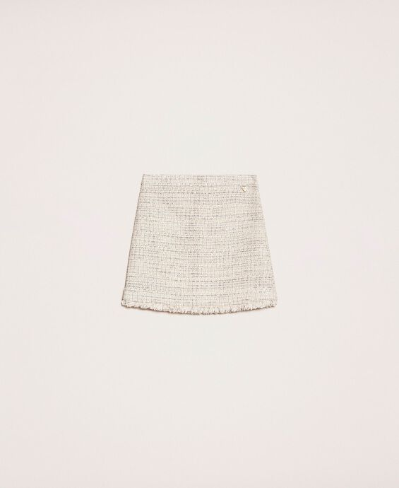 Bouclé fabric short skirt