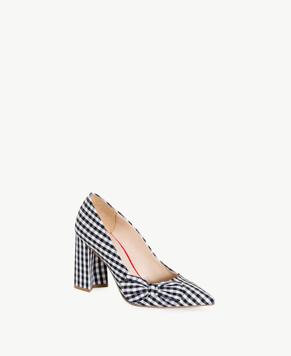 TWINSET Gingham court shoes Black Woman DS8PB3-02