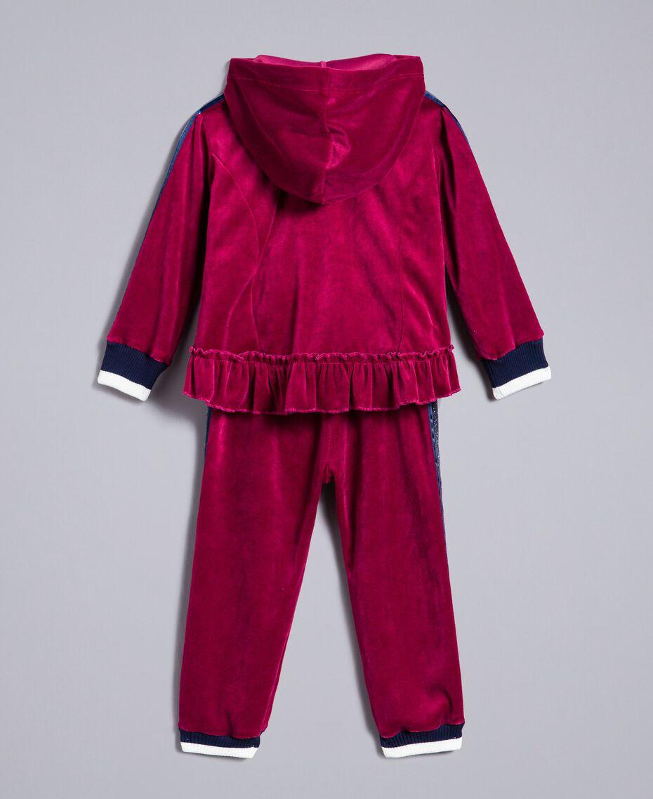 "Tuta in ciniglia Viola ""Sweet Grape"" Bambina FA82RB-0S"