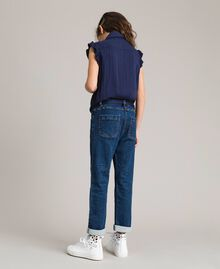 Satin-Trainingsanzug und Pullover im Denim-Look Indigo Kind 191GJ2382-03